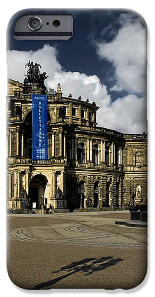 Semper Opera house Dresden - A beautiful sight iPhone Case by Christine Till