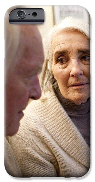 Senior Men iPhone Cases - Senior Couple iPhone Case by