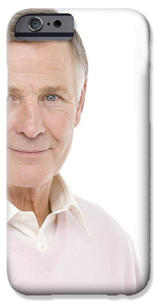 Senior Man iPhone Case by