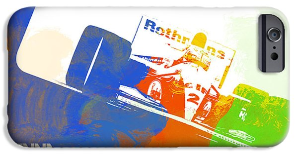 Classic Racing Car iPhone Cases - Senna iPhone Case by Naxart Studio