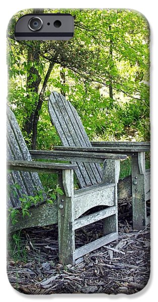 Lawn Chair iPhone Cases - Sentimental iPhone Case by Carol Sweetwood