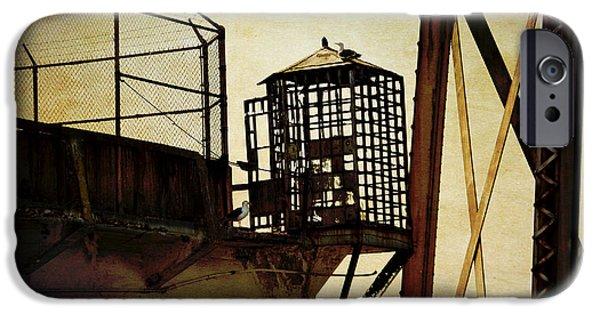 Alcatraz iPhone Cases - Sentry box in Alcatraz iPhone Case by RicardMN Photography