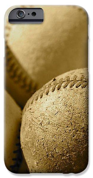 Sepia Baseballs iPhone Case by Bill Owen