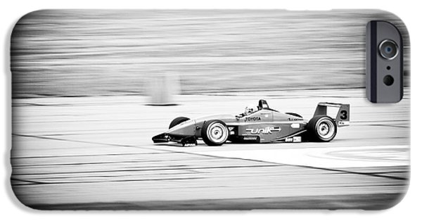 Indy Car iPhone Cases - Sepia Racing iPhone Case by Darcy Michaelchuk