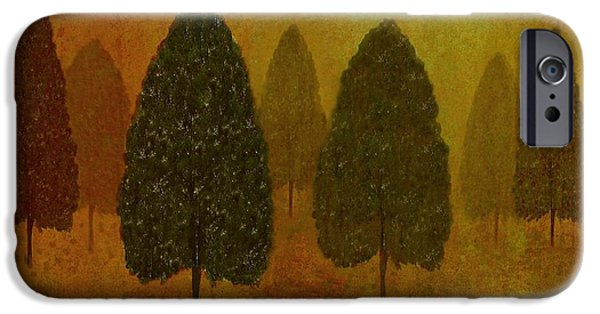 David iPhone Cases - September Trees  iPhone Case by David Dehner
