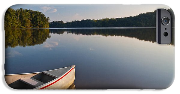 Canoe iPhone Cases - Serene Morning iPhone Case by Dale Kincaid