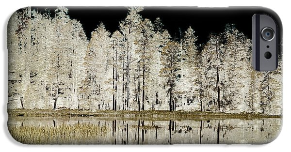 Waterscape Mixed Media iPhone Cases - Serenity iPhone Case by Bonnie Bruno