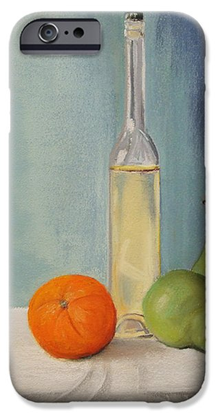 Wine Bottles Pastels iPhone Cases - Serenity iPhone Case by Marie-Claire Dole