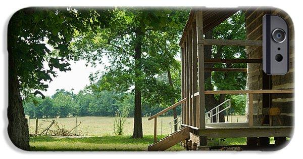 Arkansas iPhone Cases - Settlers Cabin Arkansas 4 iPhone Case by Douglas Barnett