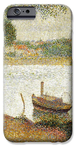 SEURAT: GRAY WEATHER iPhone Case by Granger