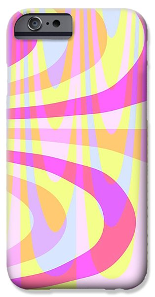 Louisa iPhone Cases - Seventies Swirls iPhone Case by Louisa Knight
