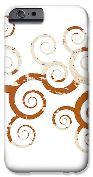 Shabby Ornament iPhone Case by Frank Tschakert