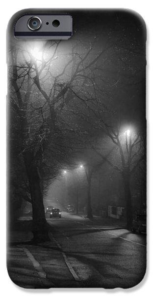 Fog Mist iPhone Cases - Shadow Dancers iPhone Case by Dorit Fuhg