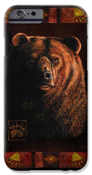 Cabin iPhone Cases - Shadow Grizzly iPhone Case by JQ Licensing