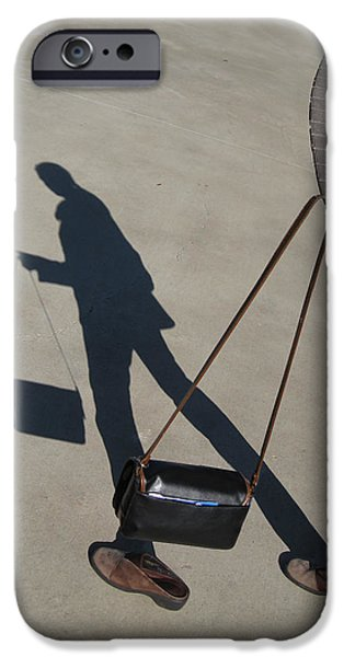 Self Portrait Photographs iPhone Cases - Shadowing Me iPhone Case by Nikki Marie Smith
