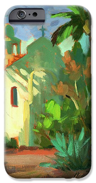 Light And Dark  iPhone Cases - Shadows at St. Richards iPhone Case by Diane McClary