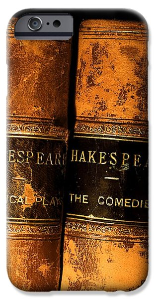Shakespeare Leather Bound Books iPhone Case by The Irish Image Collection