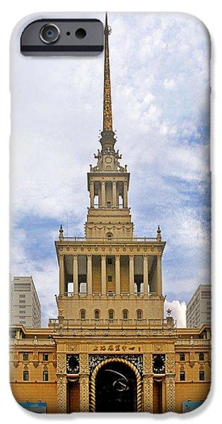 Shanghai Exhibition Center - Soviet Friendship Mansion iPhone Case by Christine Till