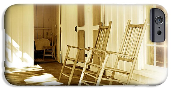 Rocking Chairs Photographs iPhone Cases - Shared Moments iPhone Case by Mal Bray
