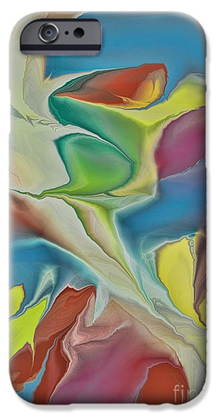 Abstract Digital iPhone Cases - Sharks in Life iPhone Case by Deborah Benoit