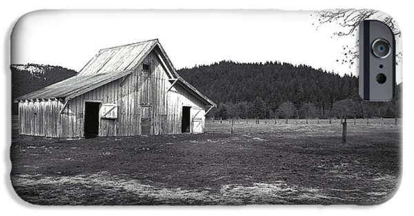 Old Barns iPhone Cases - Shasta Barn iPhone Case by Kathy Yates