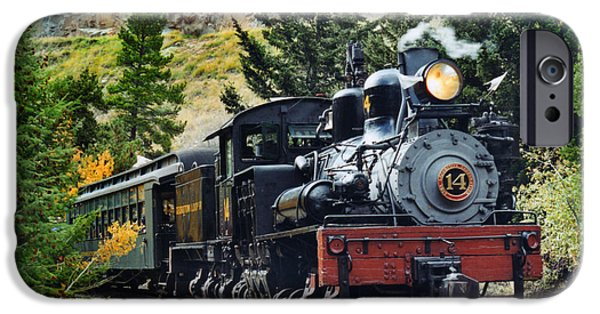 Steam Locomotive iPhone Cases - Shay on the Georgetown Loop iPhone Case by Ken Smith
