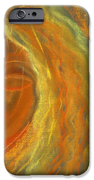 Expressionism Pastels iPhone Cases - She Dreams iPhone Case by Hakon Soreide