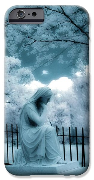 She Dreams In Blue iPhone Case by Gothicolors Donna Snyder