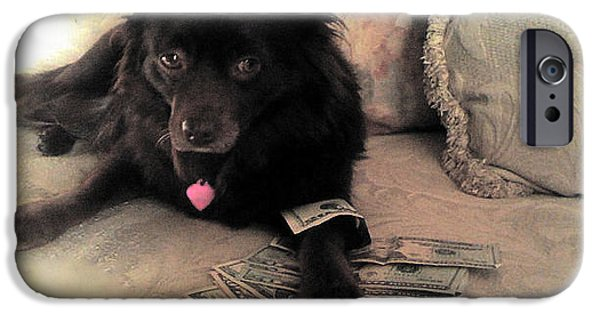 Finance iPhone Cases - She is in the money iPhone Case by Nina Prommer