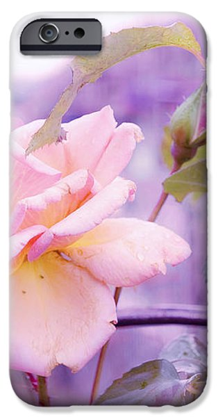 She Like the Ghost Beside Me. Scottish Rose iPhone Case by Jenny Rainbow