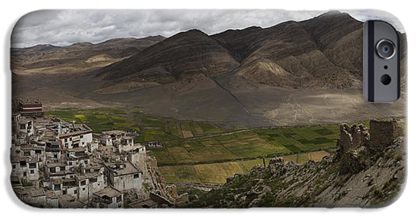 Tibetan Buddhism iPhone Cases - Shegar Monastery And A Group Of Ruined iPhone Case by Phil Borges