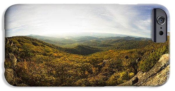 Marys iPhone Cases - Shenandoah National Park Panoramic iPhone Case by Dustin K Ryan