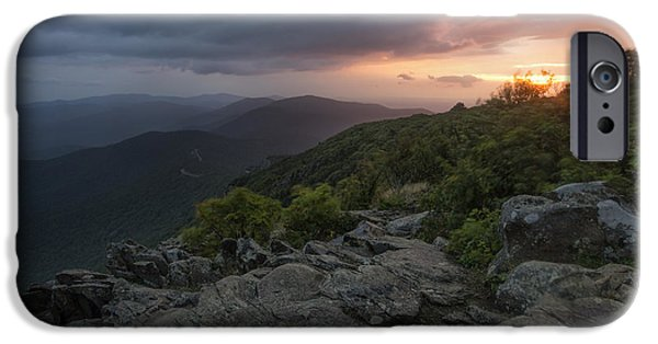 Gathering Photographs iPhone Cases - Shenandoah Sunrise iPhone Case by Rick Berk