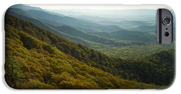 Fall iPhone Cases - Shenandoah Valley from Marys Rock iPhone Case by Dustin K Ryan