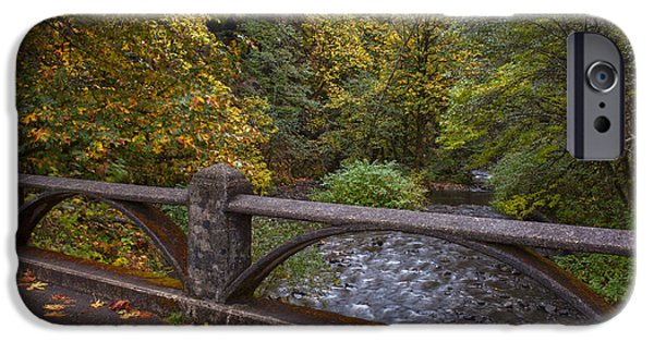 Creek Photographs iPhone Cases - Sheppards Glen Colors iPhone Case by Mike Reid