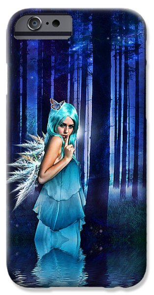 Night Angel iPhone Cases - Shhhhh we exist iPhone Case by Sharon Lisa Clarke