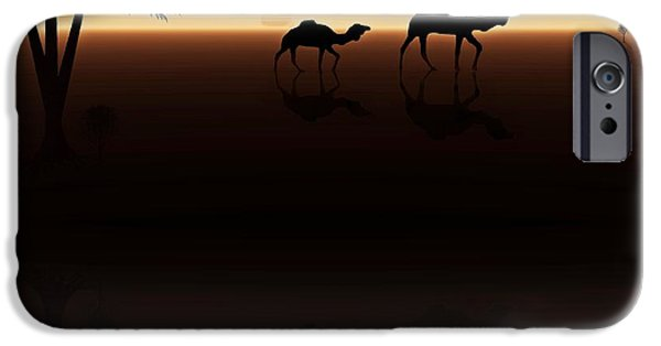 David iPhone Cases - Ships of the Desert iPhone Case by David Dehner