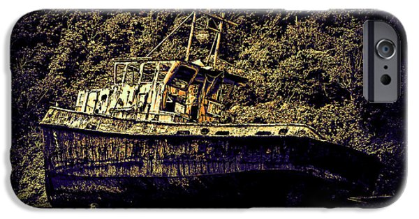 Artistic Photography iPhone Cases - Shipwreck iPhone Case by Tom Prendergast