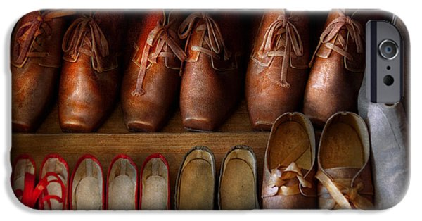 Worn In iPhone Cases - Shoemaker - Shoes worn in life iPhone Case by Mike Savad