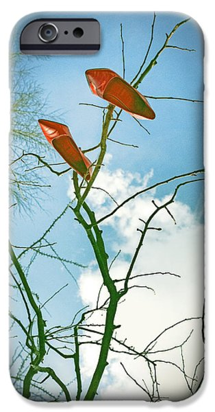 Elegant iPhone Cases - Shoes In The Sky iPhone Case by Joana Kruse