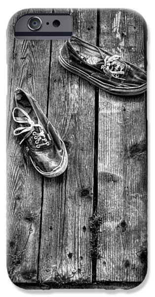 Tennis Shoes iPhone Cases - Shoes on the Dock II iPhone Case by David Patterson
