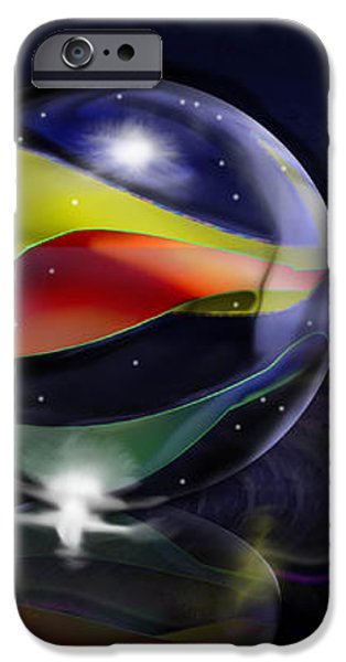Shooting Marbles iPhone Case by Reggie Duffie