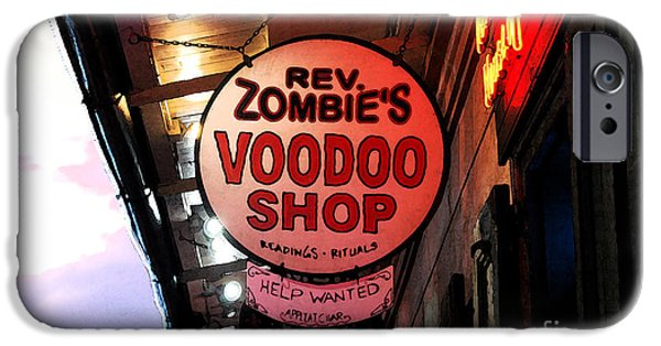 Voodoo Shop iPhone Cases - Shop Signs French Quarter New Orleans Fresco Digital Art iPhone Case by Shawn O