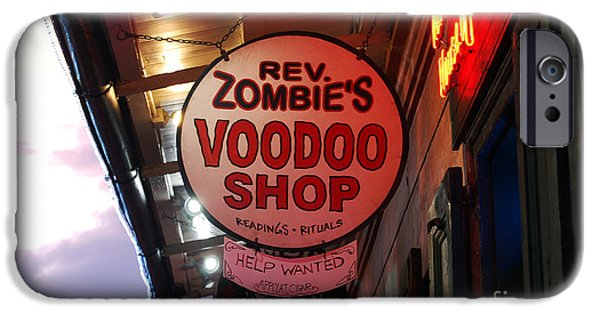 Voodoo Shop iPhone Cases - Shop Signs French Quarter New Orleans iPhone Case by Shawn O