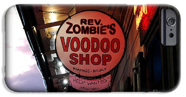 Voodoo Shop iPhone Cases - Shop Signs French Quarter New Orleans Watercolor Digital Art iPhone Case by Shawn O