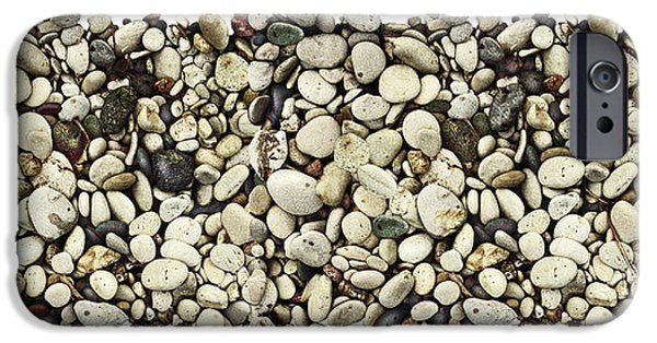 Jon Q Wright iPhone Cases - Shore Stones 3 iPhone Case by JQ Licensing