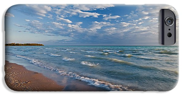 Coastal Places iPhone Cases - Shoreline Of Lake Ontario, Sandbanks iPhone Case by Mike Grandmailson