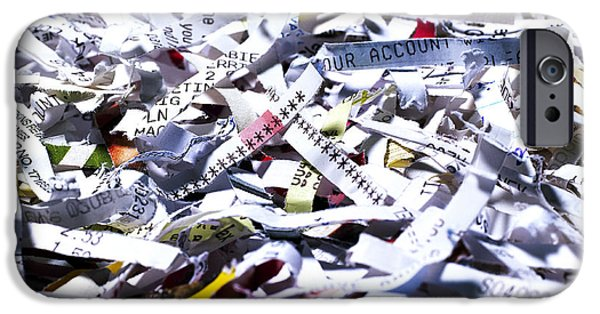 Multiple Identities iPhone Cases - Shredded Documents iPhone Case by Kevin Curtis
