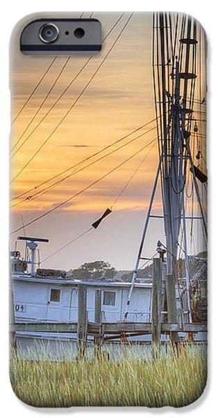 Shrimp Boat Sunset Charleston SC iPhone Case by Dustin K Ryan