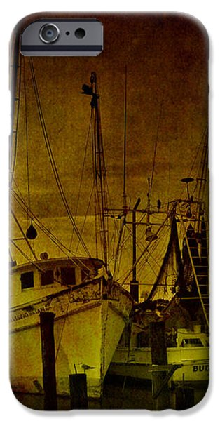 Shrimpboats in Apalachicola  iPhone Case by Susanne Van Hulst